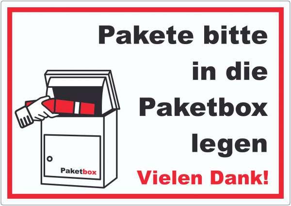 Pakete Paketbox Aufkleber