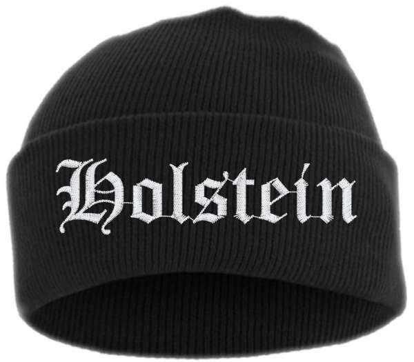 Holstein Umschlagmütze - Altdeutsch - Bestickt - Mütze mit breitem Umschlag