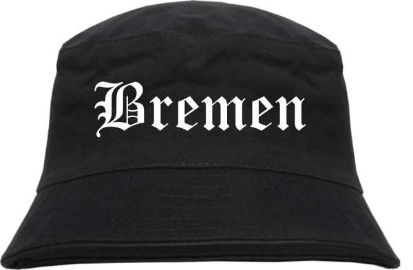Bremen Fischerhut - Altdeutsch - bedruckt - Bucket Hat Anglerhut Hut