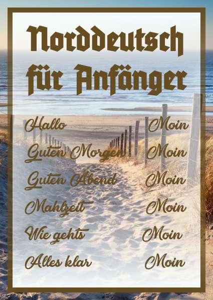Norddeutsch für Anfänger Schild