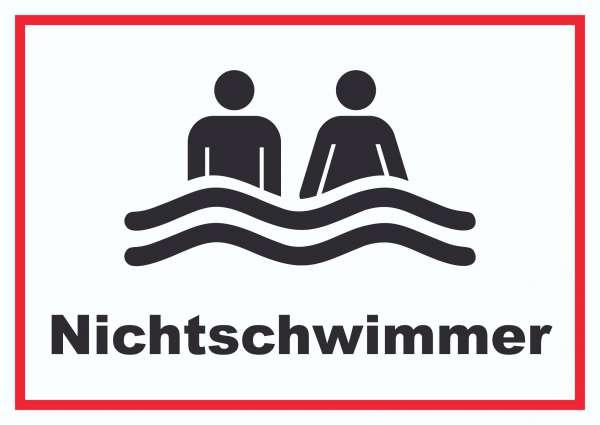 Nichtschwimmer Schild
