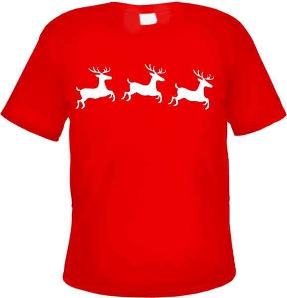Weihnachten Rentiere Herren T-Shirt - Tee Shirt