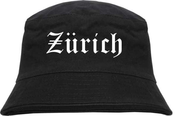 Zürich Fischerhut - Altdeutsch - bedruckt - Bucket Hat Anglerhut Hut