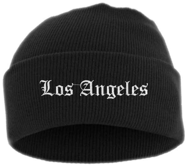 Los Angeles Umschlagmütze - Altdeutsch - Bestickt - Mütze mit breitem Umschlag