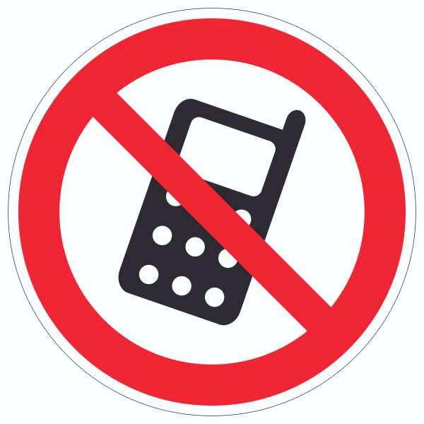 Handy aus Mobilfunkgerät abschalten Aufkleber Kreis