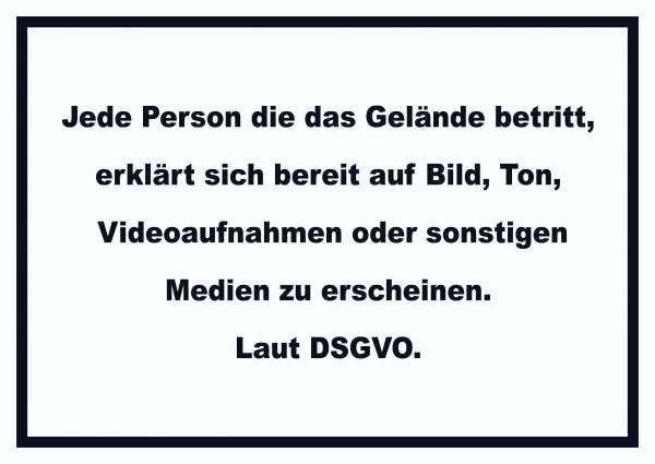 DSGVO Hinweis Schild Datenschutz