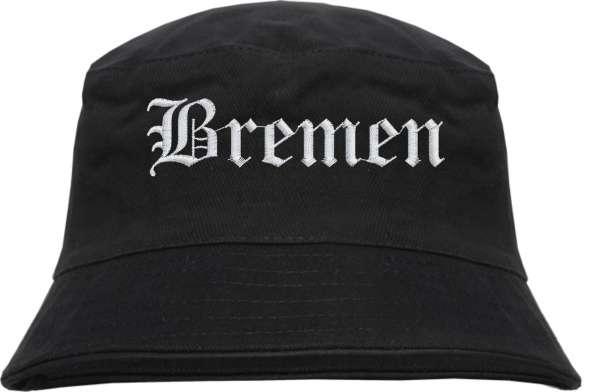 Bremen Fischerhut - Altdeutsch - bestickt - Bucket Hat Anglerhut Hut
