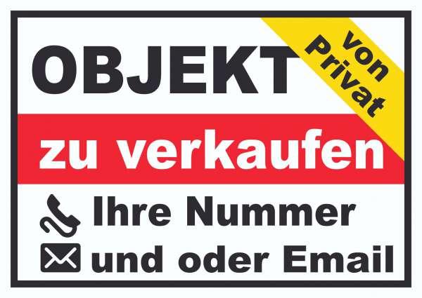 Objekt zu verkaufen von Privat Schild