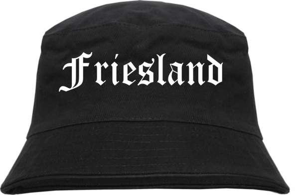 Friesland Fischerhut - Altdeutsch - bedruckt - Bucket Hat Anglerhut Hut