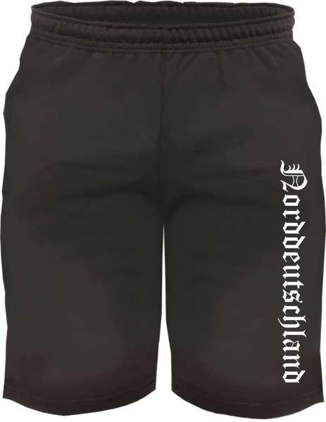 Norddeutschland Sweatshorts - Altdeutsch bedruckt - Kurze Hose Shorts