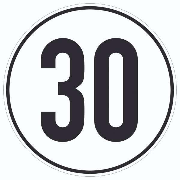 30km/h Geschwindigkeit Aufkleber Kreis