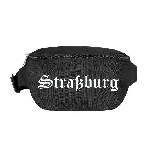 Straßburg Bauchtasche - Altdeutsch bedruckt - Gürteltasche Hipbag