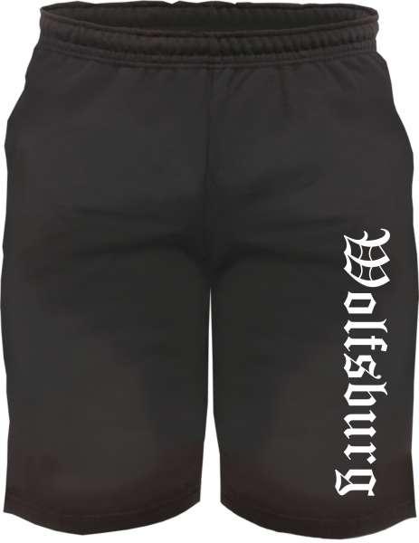 Wolfsburg Sweatshorts - Altdeutsch bedruckt - Kurze Hose Shorts