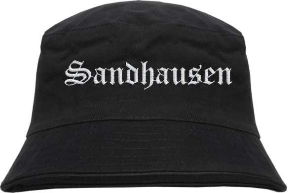 Sandhausen Fischerhut - Altdeutsch - bestickt - Bucket Hat Anglerhut Hut