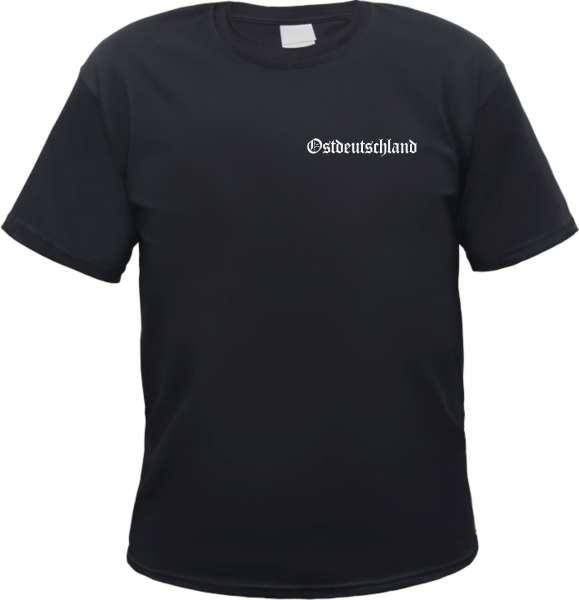 Ostdeutschland T-Shirt - Altdeutsch - Brustdruck - Tee Shirt