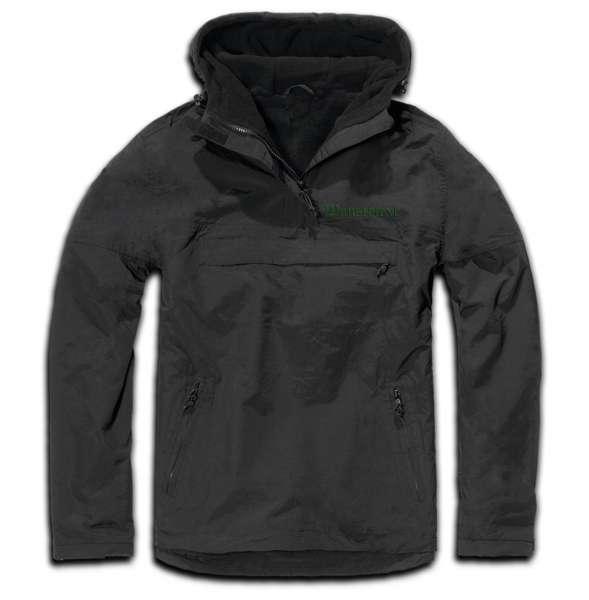 Windbreaker mit Wunschtext - Altdeutsch - bestickt - Winterjacke Jacke Stickfarbe: Grün