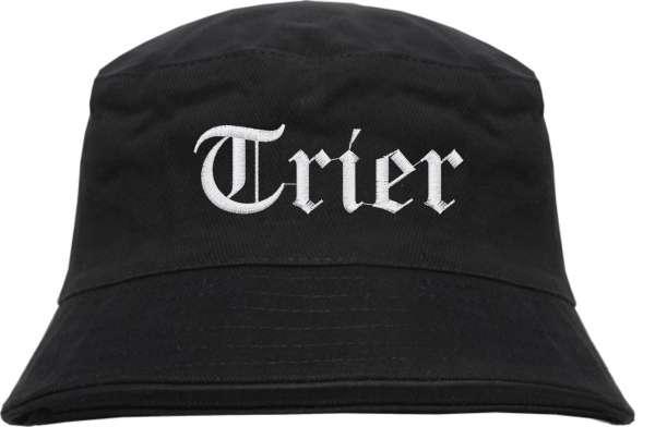 Trier Fischerhut - Altdeutsch - bestickt - Bucket Hat Anglerhut Hut Anglerhut Hut