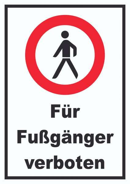 Für Fußgänger verboten Schild