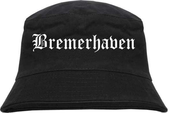 Bremerhaven Fischerhut - Altdeutsch - bedruckt - Bucket Hat Anglerhut Hut