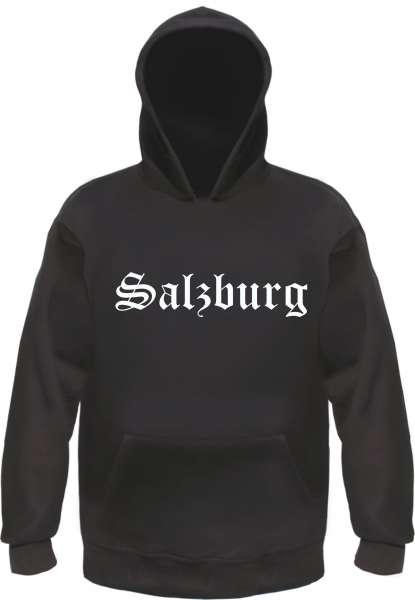 Salzburg Kapuzensweatshirt - Altdeutsch bedruckt - Hoodie Kapuzenpullover