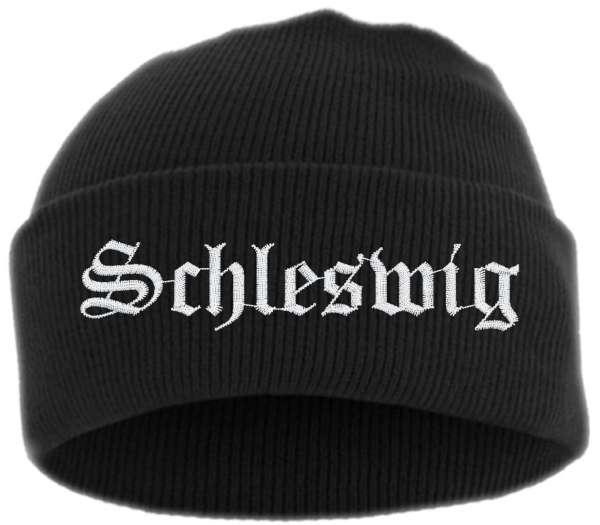 Schleswig Umschlagmütze - Altdeutsch - Bestickt - Mütze mit breitem Umschlag