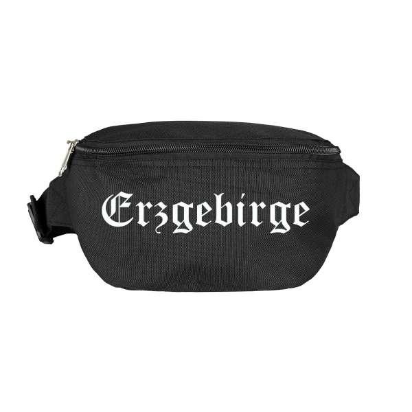 Erzgebirge Bauchtasche - Altdeutsch bedruckt - Gürteltasche Hipbag