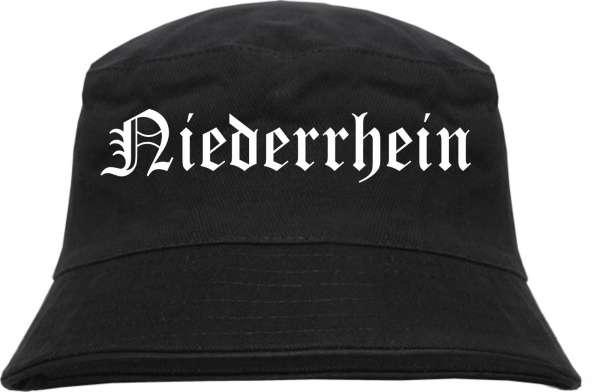 Niederrhein Fischerhut - Altdeutsch - bedruckt - Bucket Hat Anglerhut Hut