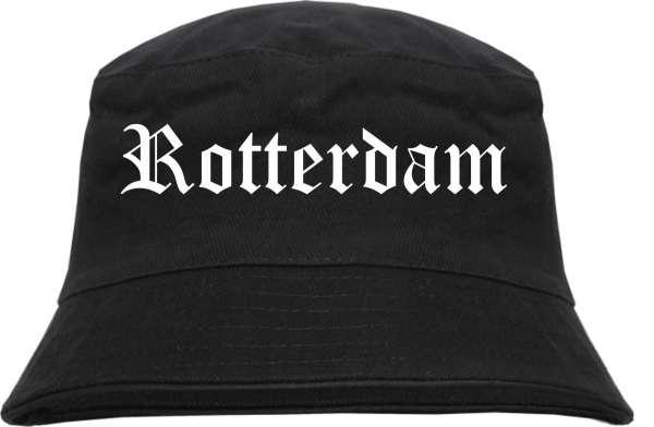 Rotterdam Fischerhut - Altdeutsch - bedruckt - Bucket Hat Anglerhut Hut