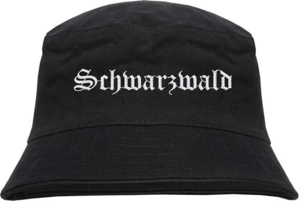 Schwarzwald Fischerhut - Altdeutsch - bestickt - Bucket Hat Anglerhut Hut