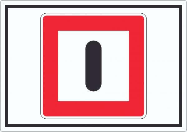 Gebot besondere Vorsicht walten zu lassen Aufkleber mit Symbol