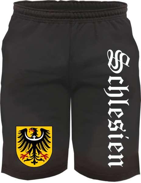 Schlesien Sweatshorts - Altdeutsch bedruckt - Kurze Hose Shorts Wappen