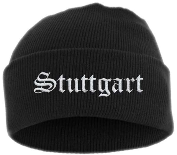 Stuttgart Umschlagmütze - Altdeutsch - Bestickt - Mütze mit breitem Umschlag