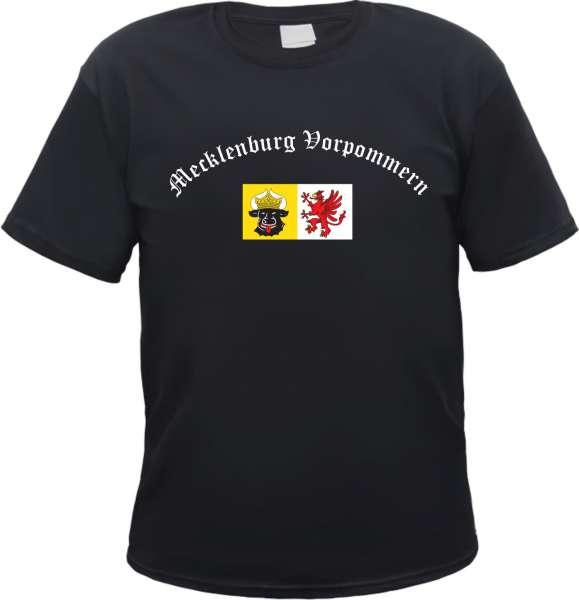 Mecklenburg-Vorpommern Herren T-Shirt - Altdeutsch mit Wappen - Tee Shirt