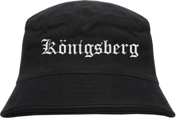 Königsberg Fischerhut - Altdeutsch - bestickt - Bucket Hat Anglerhut Hut