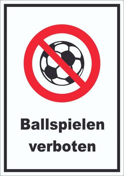 Ballspielen verboten Aufkleber