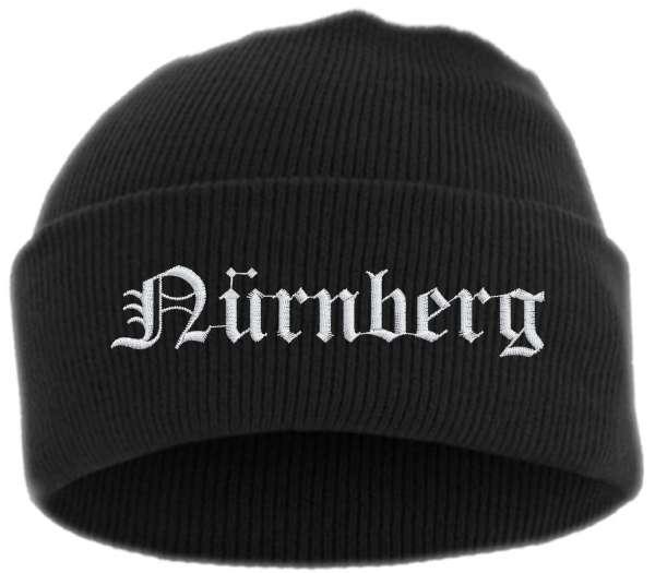 Nürnberg Umschlagmütze - Altdeutsch - Bestickt - Mütze mit breitem Umschlag