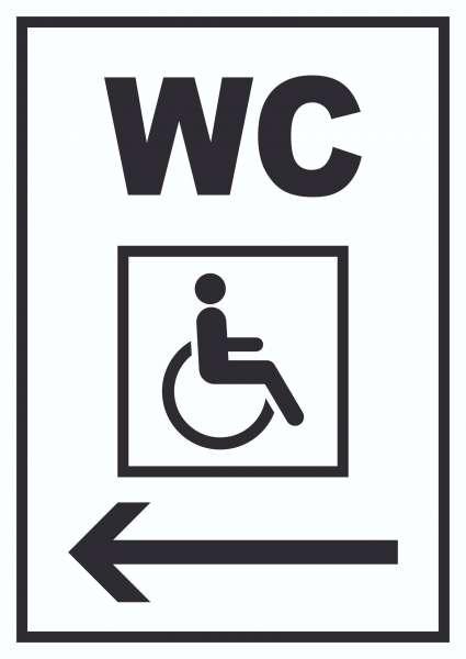 WC Behinderten links Schild