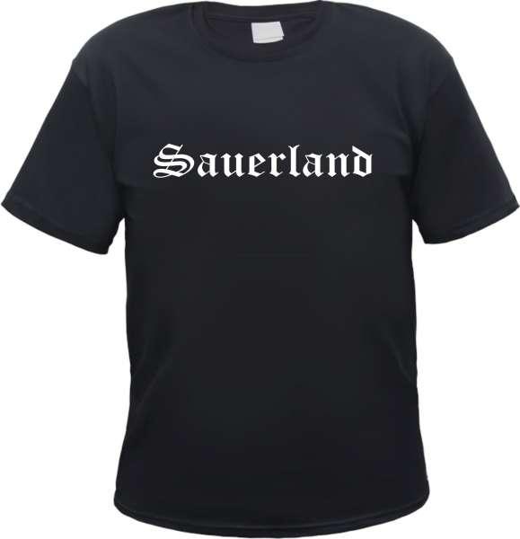 Sauerland Herren T-Shirt - Altdeutsch - Tee Shirt