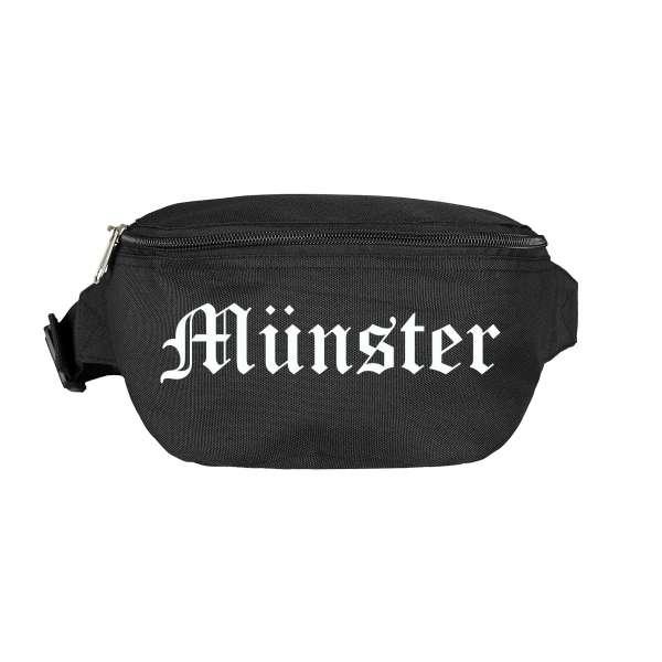 Münster Bauchtasche - Altdeutsch bedruckt - Gürteltasche Hipbag