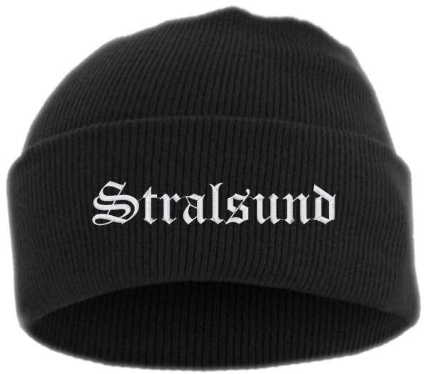 Stralsund Umschlagmütze - Altdeutsch - Bestickt - Mütze mit breitem Umschlag