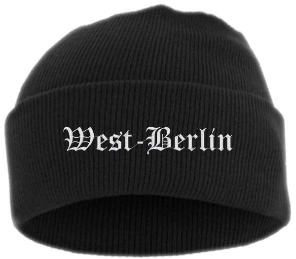 West-Berlin Umschlagmütze - Altdeutsch - Bestickt - Mütze mit breitem Umschlag