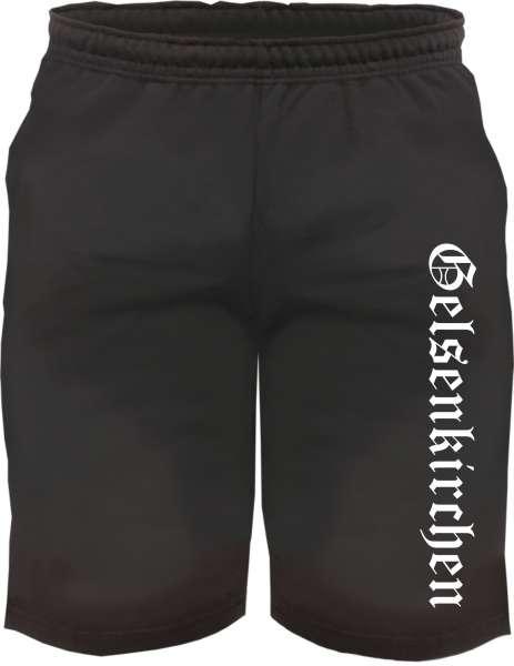 Gelsenkirchen Sweatshorts - Altdeutsch bedruckt - Kurze Hose Shorts