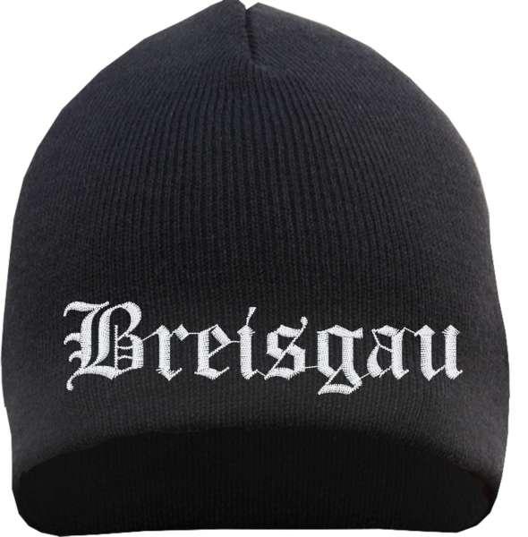Breisgau Beanie Mütze - Altdeutsch - Bestickt - Strickmütze Wintermütze