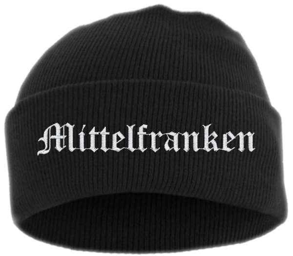 Mittelfranken Umschlagmütze - Altdeutsch - Bestickt - Mütze mit breitem Umschlag