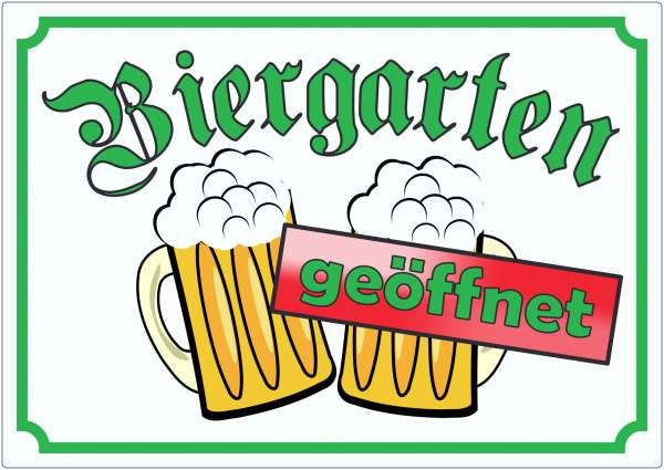 Biergarten geöffnet Aufkleber