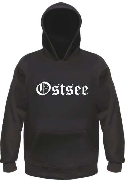 Ostsee Kapuzensweatshirt - Altdeutsch - bedruckt - Hoodie Kapuzenpullover
