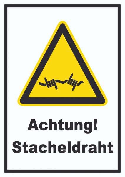 Achtung Stacheldraht Schild
