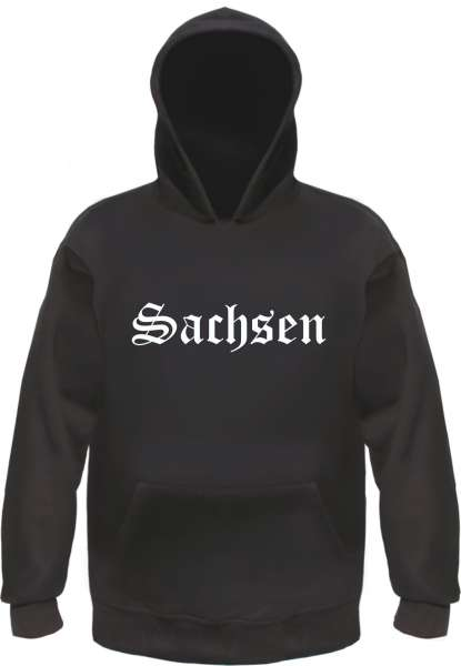 Sachsen Kapuzensweatshirt - Altdeutsch - bedruckt - Hoodie Kapuzenpullover