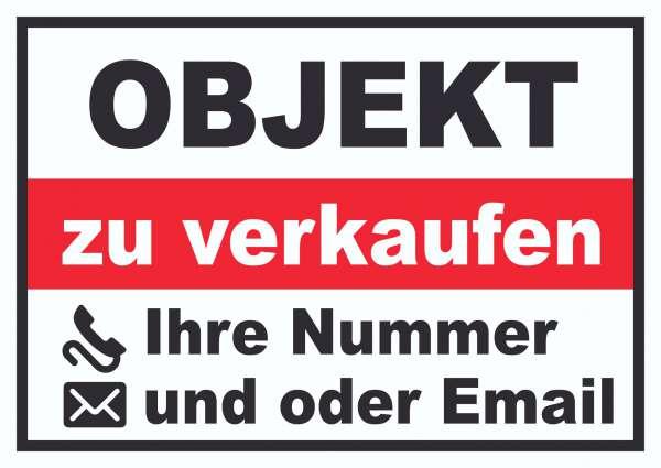 Objekt zu verkaufen Schild