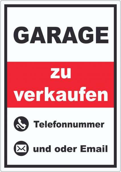 Garage zu verkaufen Hochkant Aufkleber